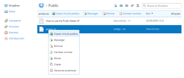 Dropbox public karpeta