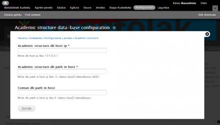 Ikudeako datuak konfiguratzen