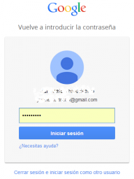 gmail erabiltzailea eta pasahitza sartu